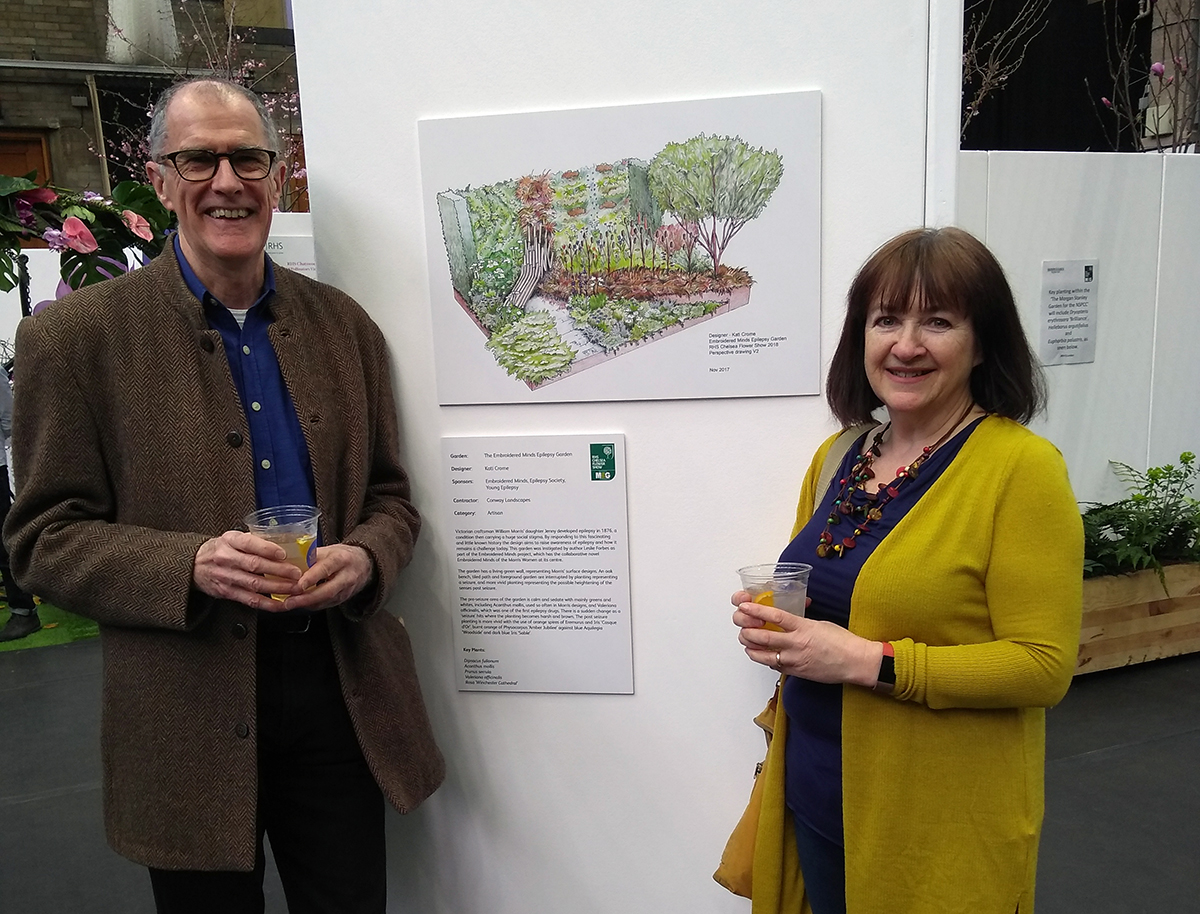 Andrew & Kati at RHS Chelsea Preview show at Horticultural Halls, London