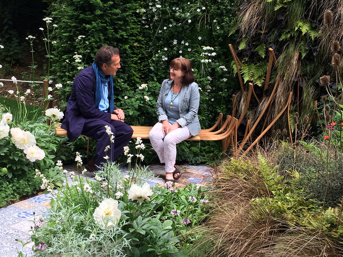 Kati interviewed by BBC's Monty Don about the story of the garden (BBC iplayer for a few weeks)