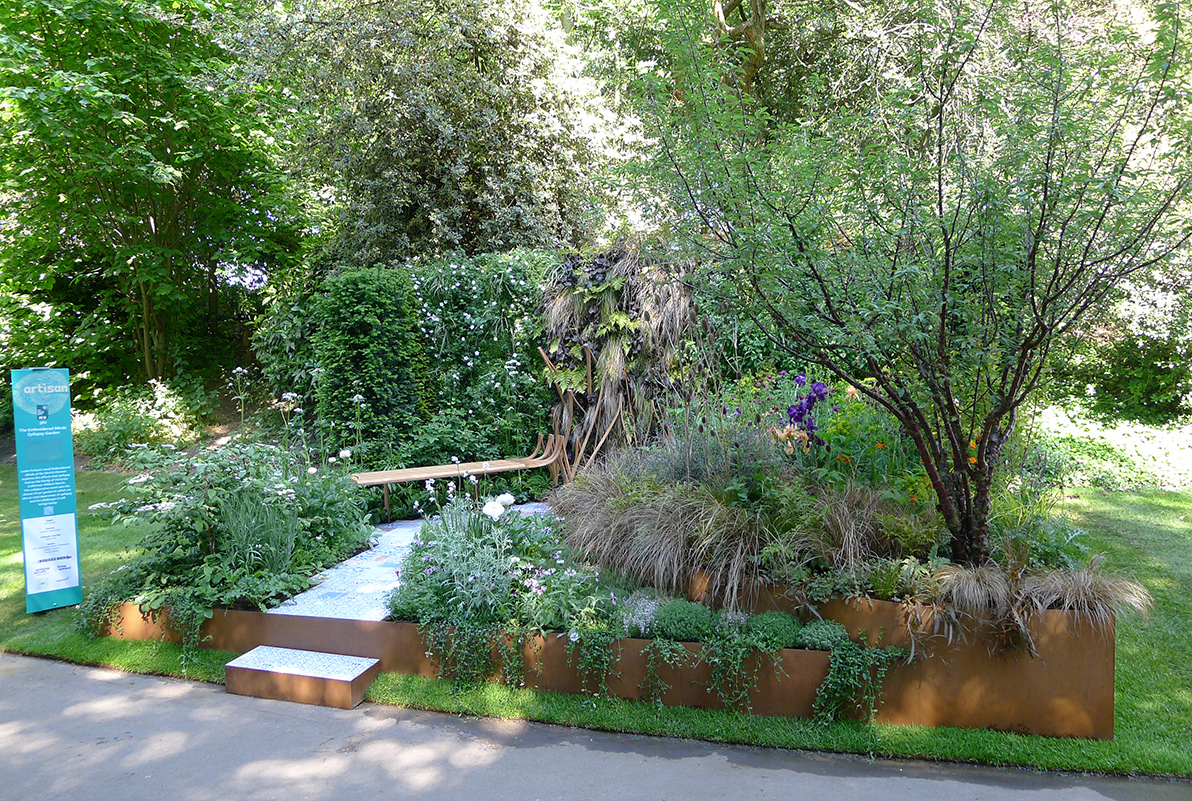 Finally finished and ready to be judged - the smallest Show Garden at Chelsea - with the biggest story